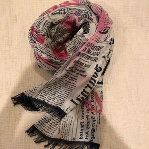 Silk/cashmere scarf